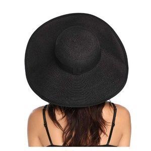 Lanzom Accessories - Lanzom Womens Wide Brim Straw Hat Floppy Foldable